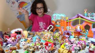 getlinkyoutube.com-Garage Sale Haul: HUGE Littlest Pet Shop Find - Toys, Accessories, Clothes & MORE! 100+