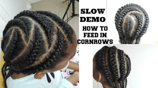 getlinkyoutube.com-HOW TO FEED IN CORNROWS || SLOW DEMO