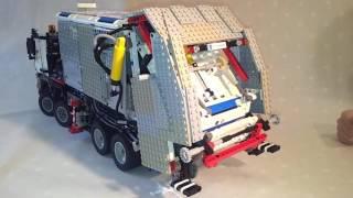 getlinkyoutube.com-LEGO Technic Bin Lorry based on MB Arocs 3245 (Lego set #42043)