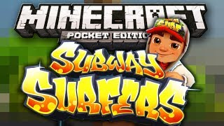 getlinkyoutube.com-SUBWAY SURFERS MINI GAME w/ JollyGreenMiner - Minecraft Pocket Edition