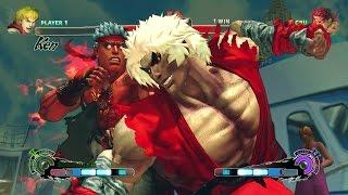 Violent Ken vs Evil Ryu USFIV Hardest Difficulty