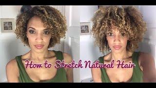 getlinkyoutube.com-Stretching Natural Hair   3c 4a Curls  No Shrinkage   NiaKnowsHair