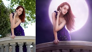 getlinkyoutube.com-Fantasy Looks Retouching Photo Effects Photoshop Tutorial Editing