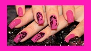 getlinkyoutube.com-DIY EASY Nail Art Tutorial - Красивый и легкий дизайн ногтей