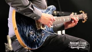 """getlinkyoutube.com-PRS Custom 24 """"Wood Library"""" Quilted Maple 10-Top, Faded Whale Blue"""