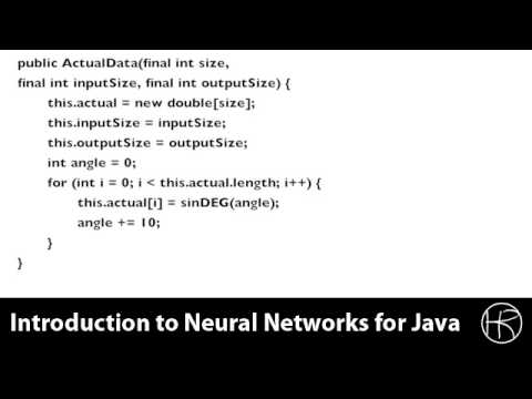 Introduction to Neural Networks for Java(Class 10/16, Part 2/3) - implement predict temporal
