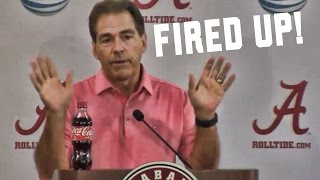 getlinkyoutube.com-Heated Nick Saban gets fired up at media (10/5/2015)