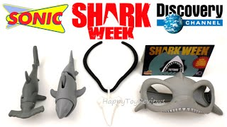 getlinkyoutube.com-2016 SHARK WEEK SONIC DRIVE-IN KIDS MEAL TOYS DISCOVERY CHANNEL COMPLETE SET 5 TOY COLLECTION REVIEW