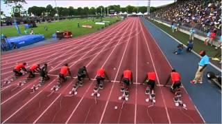 getlinkyoutube.com-Yohan Blake 9.90 100m New York Diamond League Meeting 2012  (English)
