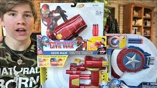 getlinkyoutube.com-MARVEL CAPTAIN AMERICA: CIVIL WAR BLASTERS!!