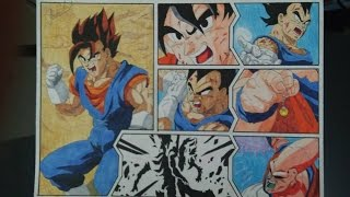 getlinkyoutube.com-DRAGON BALL Z HOW TO DRAW VEGETTO VEGITO IS BORN DRAWING DIBUJO 図 ベジット