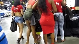 getlinkyoutube.com-Compilation of girls with sexy legs in mini skirts high heels with long nails'