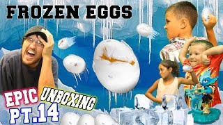getlinkyoutube.com-FROZEN EGG FIGHT!  Kids vs. Parents!  Epic Unboxing pt. 14 (Punk Shock - Skylanders Swap Force)
