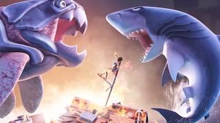 getlinkyoutube.com-Sea Monster Battles! Megalodon vs Dunkleosteus - Jurassic World