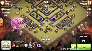 getlinkyoutube.com-3 star using lavaloon(low level) on th9 w/ maxed ad