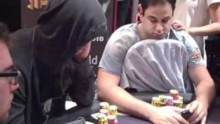 getlinkyoutube.com-Insane all-in bluff by Viktor Blom aka Isildur1 on Day 3 of WSOPE 2010