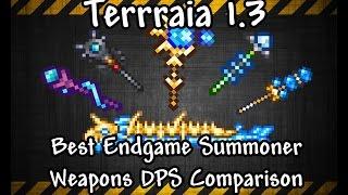 getlinkyoutube.com-Terraria 1.3 Best Endgame Summoner Weapons + DPS Comparison