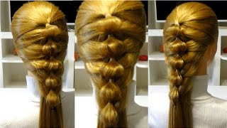 getlinkyoutube.com-Прическа в школу на длинные и средние волосы