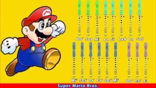 getlinkyoutube.com-Super Mario Bros. en Flauta Dulce con Notas