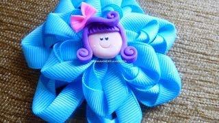 DIY Make Hair Bow,Diy ribbon bow baby headband tutorial,video 265