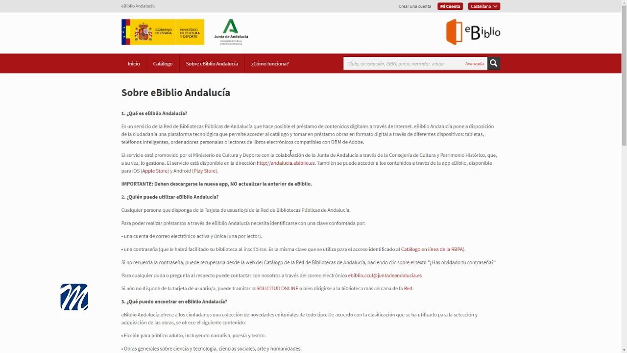 Cultura nos recomienda el servicio eBiblio