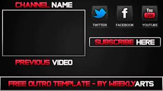 getlinkyoutube.com-Template #1 - Outro Template - by WeeklyArts