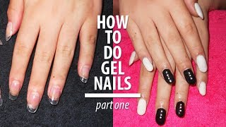 getlinkyoutube.com-How to apply fake tips and do gel nails Part 1