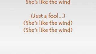 getlinkyoutube.com-Patrick Swayze - She's like the wind (with lyrics)