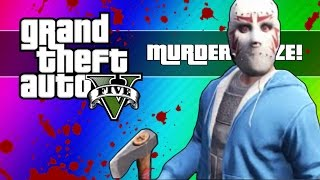 getlinkyoutube.com-GTA 5 Online: Murder Maze - First Person Edition! (GTA 5 Next Gen Funny Moments)