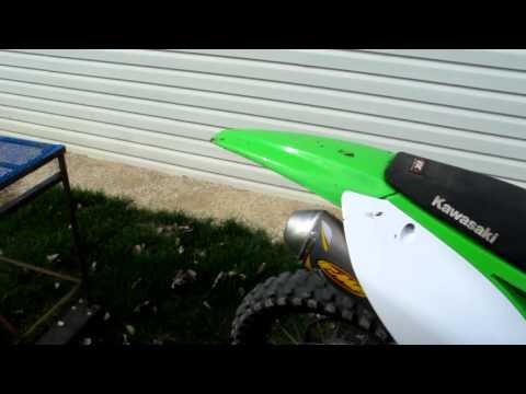 FMF Powercore 4 exhaust on 2009 Kawasaki KX450F