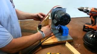 getlinkyoutube.com-DIY homemade belt sander / grinder