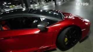 getlinkyoutube.com-[KETOSI] Lamborghini Aventador Roadster LP700-4 (Chrome) top install and Start up