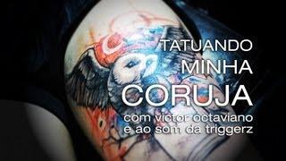 getlinkyoutube.com-Tatuagem Aquarelada de Coruja - com Victor Otaviano