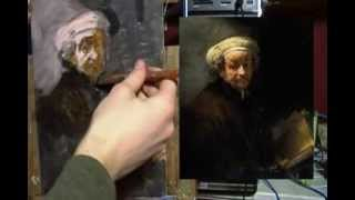 getlinkyoutube.com-Painting Rembrandt in Acrylic: Part 1 Painting Demo