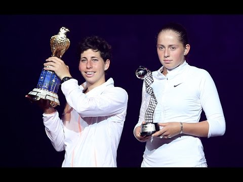 2016 Qatar Total Open Final WTA Highlights   Carla Suarez Navarro vs Jelena Ostapenko