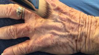 getlinkyoutube.com-Younique Touch Mineral Liquid Foundation on 82-year-old Hands