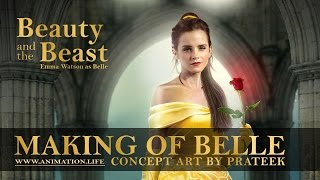 getlinkyoutube.com-Making of Belle Poster (2017 Beauty and the Beast concept art)