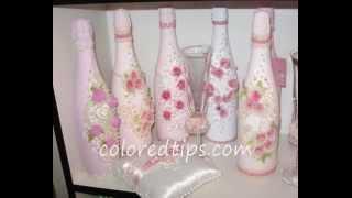 getlinkyoutube.com-Decorate a champagne bottle for weddings