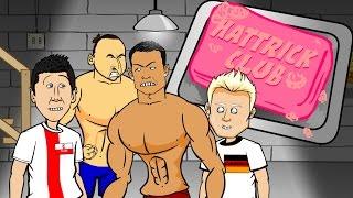 getlinkyoutube.com-🎬HAT-TRICK CLUB 1🎬 Ronaldo, Lewandowski, Schurrle hat-trick (Euro 2016 Qualifiers PARODY cartoon)
