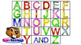 """""""The Alphabet Song"""" (Level 1 English Lesson 04) CLIP – Sing Busy Beavers ABC Song, Baby Learning"""