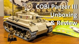 COBI German Panzer III Tank Review (Set 2451)