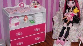 getlinkyoutube.com-How to make Baby Changing Table Dresser for doll (Monster High, MLP, EAH, Barbie, etc)