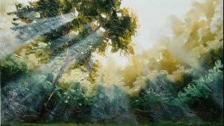 "getlinkyoutube.com-Oil painting with Svetlana Kanyo ""Sun Light"""