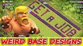 getlinkyoutube.com-Clash Of Clans | WEIRD BASE DESIGNS! | HOW TO 3 STAR AWKWARD BASES