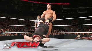 getlinkyoutube.com-Cesaro vs. Kevin Owens - Winner Faces The Miz for the Intercontinental Title: Raw, April 11, 2016