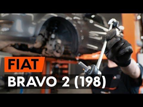 Как заменить тягу стабилизатора передней подвески FIAT BRAVO 2 (198) (ВИДЕОУРОК AUTODOC)
