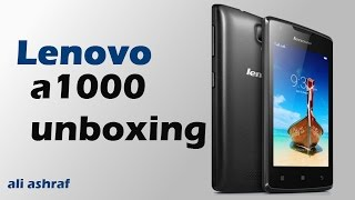 Lenovo A1000 Unboxing & Review width=