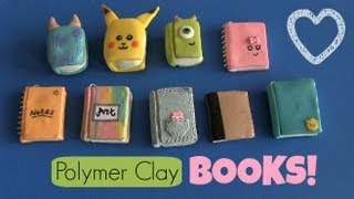 getlinkyoutube.com-Book & Notebook Charms! Back-to-School - Polymer Clay - How To