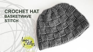 getlinkyoutube.com-Tutorial Basketwave Crochet Unisex Hat in English