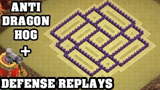 getlinkyoutube.com-Clash of Clans - Town hall 7 (Th7) War Base + Defense REPLAY - ANTi Dragon ANTi Hog Strategy